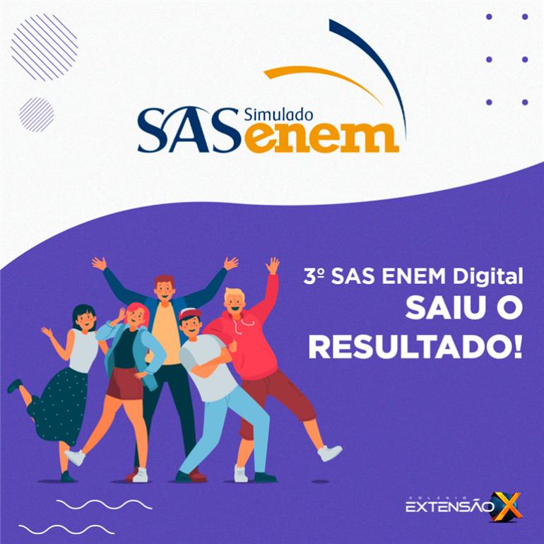 Saiu o resultado do 3º SAS ENEM